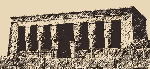 Hathor temple of Dendarah (Ptolemaic age) - © Photo and graphics by Born 2B Wide